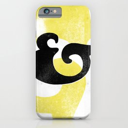 Goudy Stout Ampersand iPhone Case