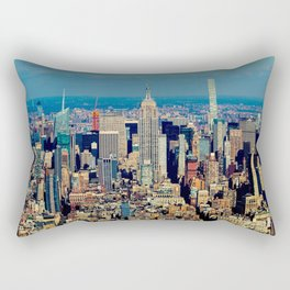 NYC Cityscape (Color) Rectangular Pillow