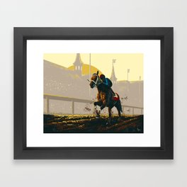 Kentucky Derby Framed Art Print