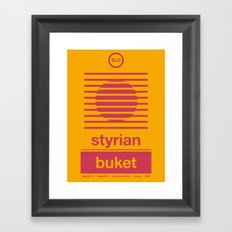 styrian buket single hop Framed Art Print