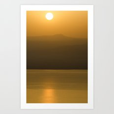 Golden brown1 Art Print