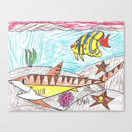 Tiger Shark Too Canvas Print