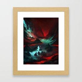 Red Cave Framed Art Print