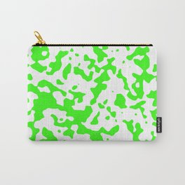 Spots - White and Neon Green Carry-All Pouch