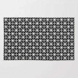 Minimal Black + White Pattern Rug
