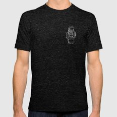 HIGH - 420w LARGE Tri-Black Mens Fitted Tee
