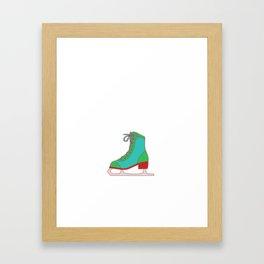 Lovely Gift Ice Skating Tshirt Design Like inline skating but way cooler Framed Art Print