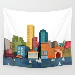 City Boston Wall Tapestry