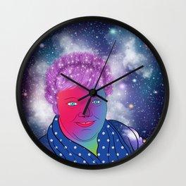 Good Hair Day Self Portrait Wall Clock