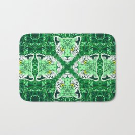 Emerald Leopard  Bath Mat