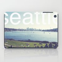seattle iPad Cases featuring seattle by Rae Snyder
