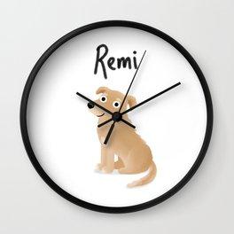 """Cute Custom Dog Art """"Remi"""" Wall Clock"""