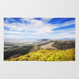View of Silvermine and False Bay Rug