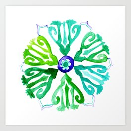 Ethnic circle of peace Art Print