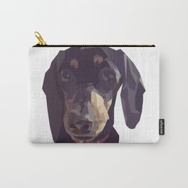 Geometric Sausage Dog Digitally Created Carry-All Pouch