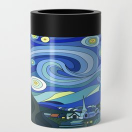 Tardis Art Starry Night Can Cooler