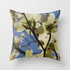 Dogwood Days of Spring Throw Pillow