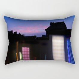 Urban City Lights Rectangular Pillow