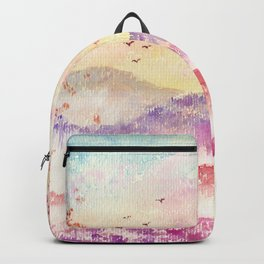 Loose Landscape and Branches Watercolor Backpack