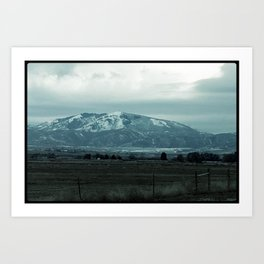 Snowy mountain Art Print