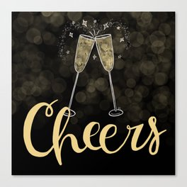 Cheers To The New Year Canvas Print