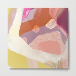 Ablaze Abstract Painting Metal Print