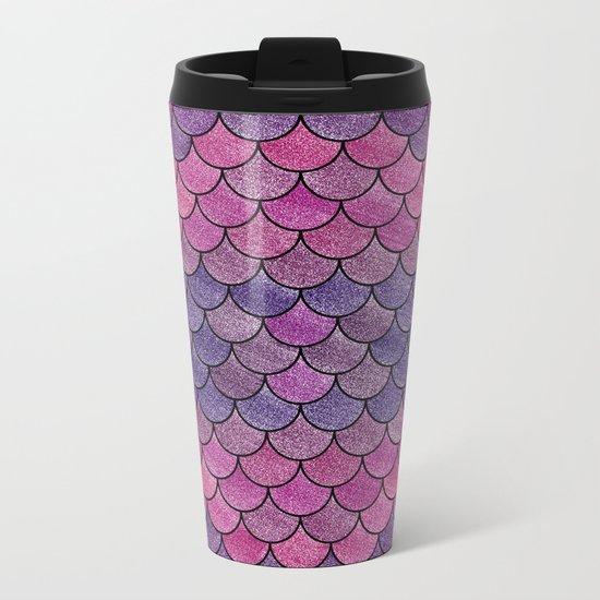 Lovely Pattern V (Glitter Version) Metal Travel Mug