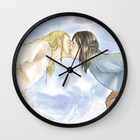 fili Wall Clocks featuring Fili and Kili_Escape by JoySlash