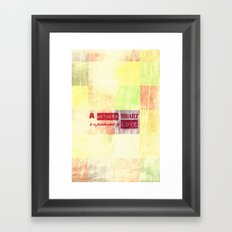 A mother's heart is a patchwork of love Framed Art Print