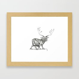 Catalope: The Horned Cat Framed Art Print