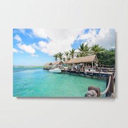 Aruba Boat Metal Print