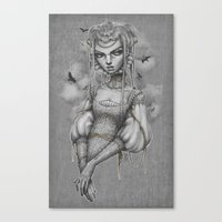 raven Canvas Prints featuring Raven by Zan Von Zed