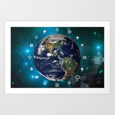World Religions Art Print