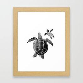 Shielded Love (black and white) Framed Art Print