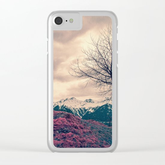 Japanese Mountains Clear iPhone Case
