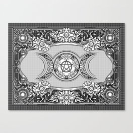 Triple Moon - Triple Goddess Ornament Canvas Print