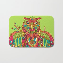 Owl, cool art from the AlphaPod Collection Bath Mat