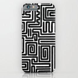 Tribal Maze Pattern (Minimal) iPhone Case