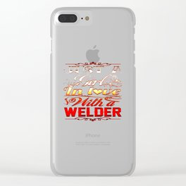 In love with a Welder Clear iPhone Case