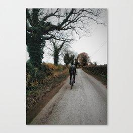 Winter road cycling Canvas Print