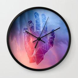 Crimson Sky Part One Wall Clock