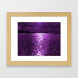 Ultraviolet Lakescene Scandinavian View #decor #society6 #homedecor Framed Art Print