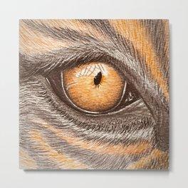tigers eye watercolor painting Metal Print