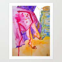 amelie Art Prints featuring Amelie by Laurie Art Gallery