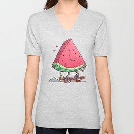Watermelon Slice Skater Unisex V-Neck