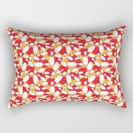 Bowling Alley Balls and Pins Pattern Rectangular Pillow