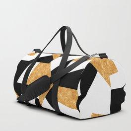 Corners in Black White Gold Duffle Bag