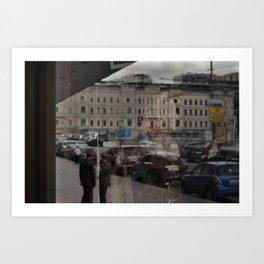 Moscow Opera Reflected Art Print
