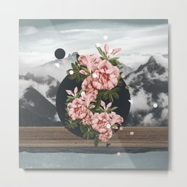 Bloom in Gloom. Metal Print