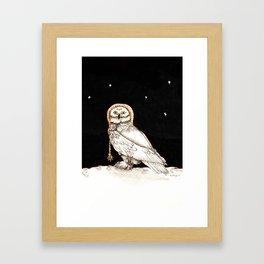Starry Night Owl Framed Art Print